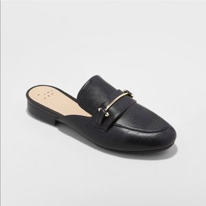 Black Mules Size 8